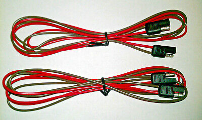 2 pin 2 Pole Flat Connector molded trailer plug two 48 inch harnesses USA made