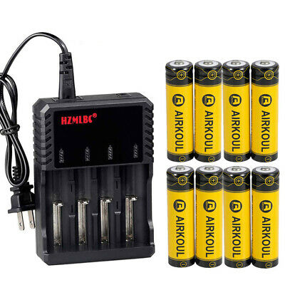 For Flashlight 3.7V 18650 Battery Li-ion Rechargeable Batteries Optional Charger