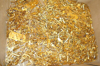 4 oz  Gold Plated Scrap Recovery Pins Misc Parts    FREE SHIP   (BB1 PZ4)