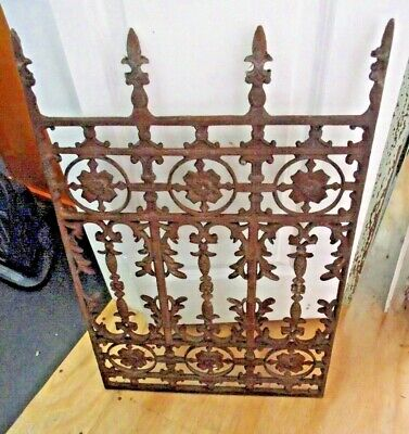 "Vintage Large Cast Iron Window Grate Art Deco Garden Art  18 3/4""  X 29 1/2"""