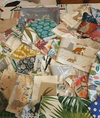 500g Fabric Scrap Bundle,off cuts,mainly floral, geo,modern Card Making,Crafts