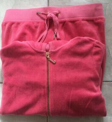 """Girls """"JUICY COUTURE"""" Pink Track Suit, Size P."""