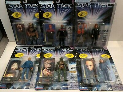 Star Trek Playmates Mixed Wave 6 Full 6 Piece Set 1997 Includes LIMITED CRUSHER!
