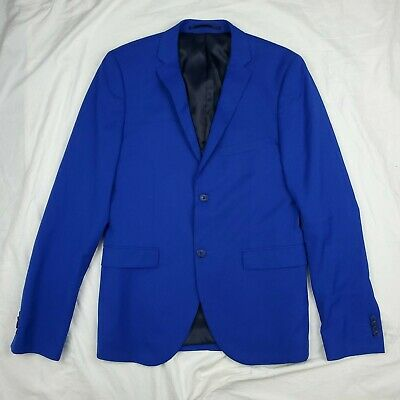 NWOT Topman Cobalt Ultra Skinny 2-Button Suit Jacket US 40