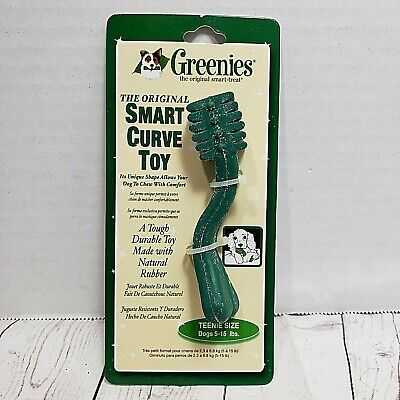 Greenies Curved Smart Toys Natural Rubber Teenie Sz Dogs 5-15 Pounds puppy