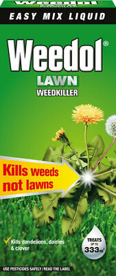 Weedol Lawn Weedkiller - 500ml - Treats up to 333m2 - Kills Weeds Not Lawns