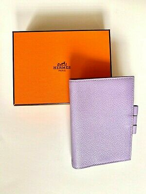 NEW AUTHENTIC HERMES NEW IN BOX Lavender leather Agenda cover in Epsom calfskin