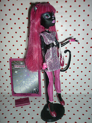 "Monster High ""Scaremester"" Catty Noir Doll inc Stand, Diary, Brush & Acc'"