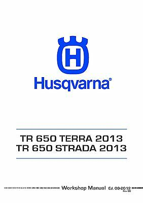 Husqvarna engine workshop service manual 2013 TR 650 TERRA & TR 650 STRADA