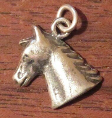 Horse Head Charm Sterling Silver Vintage