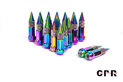 CPR OPEN ENDED 17HEX STEEL WHEELS LUG NUTS NEO CHROME 20 PCS 12X1.5MM 48MM