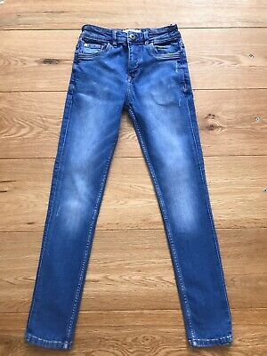 Boys Matalan Blue Stretch Skinny Fit Jeans Age 9 Years