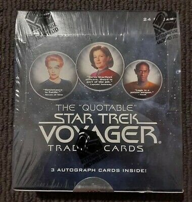 2012 The Quotable Star Trek Voyager Trading Cards (3 Autographs) 24 Packs SEALED