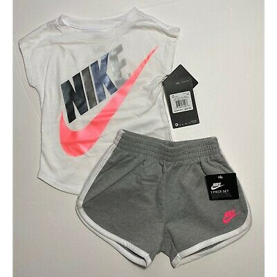 Nike Infant Girls Futura Shorts & Tee Shirt Set Outfit 18M NEW #6