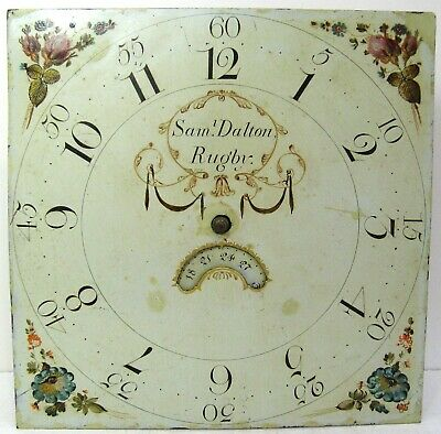 An Interesting 30 Hour  Longcase Dial & Movement  - Sam Dalton of Rugby.