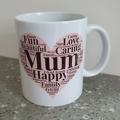 Word Collage || MOTHERS DAY Personalised Mug / Cup  /Gift/Mum/mummy