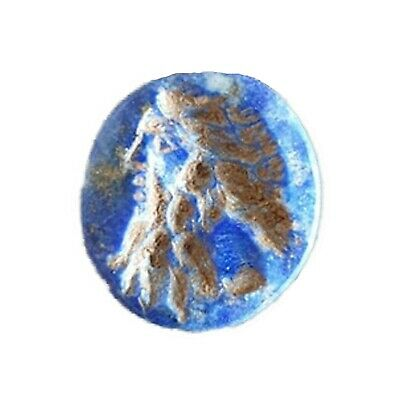 Ancient Roman Lapis Lazuli Intaglio with Bust of Neptunus