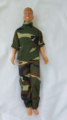 """1990 Hasbro JOEY MCINTYRE """"New Kids On The Block""""  DOLL~Camo 2 pc outfit"""