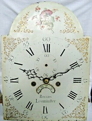 A Very Good Longcase Dial & Movement - Rogers of Leominster - Dated 1789.