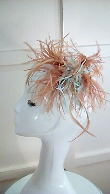 Wedding races occasion feather fascinator