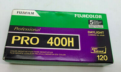 Fuj Fujicolor Pro 400H ISO 400 120 Color Negative Film, 5 Roll Pro Pack 08/2021
