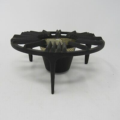 Vintage Pyrex Cast Iron Sterno Warmer Trivet Base Stand Coffee Chafing Dish USA