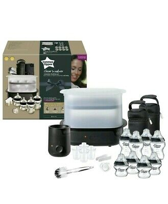 Tommee Tippee Closer to Nature Complete Feeding Set Electric Steriliser Black
