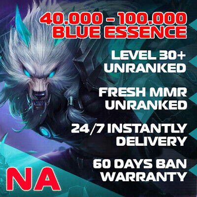 🎈 NA League of Legends LOL Account 30.000 - 70.000 BE Unranked Smurf Level 30