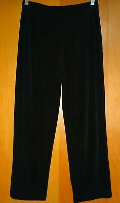 Travelers by Chico's Pants Cropped Capri Size 0 Tall Black Slinky Stretch