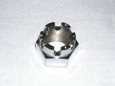 Castle or Axle Nut - M16 / 16mm x 2 mm Standard Pitch - UK Made - CHROME