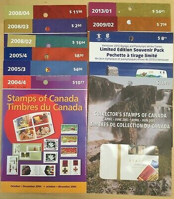 Lot of 10 Canada Post Stamps Packs @ Face Value
