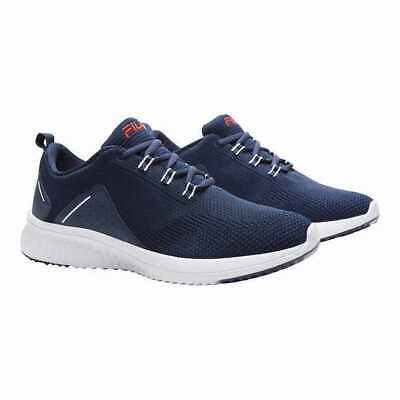 New - Fila Men's Verso Athletic Shoes Sneakers Navy Blue White Knit - Pick Size