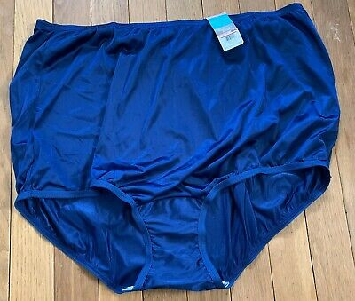 NWT Sz 10 (3XL) Vanity Fair Perfectly Yours Ravissant Tailored Nylon Brief Blue