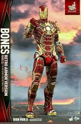 IRON MAN 3 HOT TOYS MMS 412 - Bones Mark XLI (Retro Armor Version) 1/6 Figure !