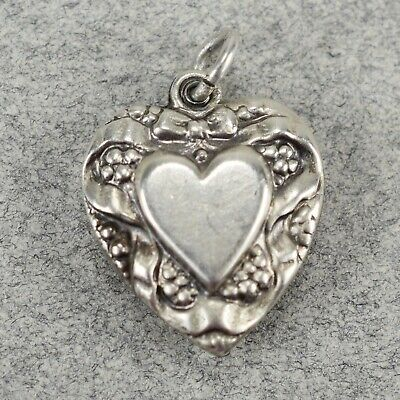 FB Jewels Solid Sterling Silver Heart With Key Charm