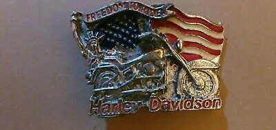 Harley Davidson Vintage Belt Buckle  - Freedom To Ride