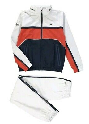 BNWT Boys Lacoste tracksuit 4 /yrs years Navy blue red and white Rrp£150