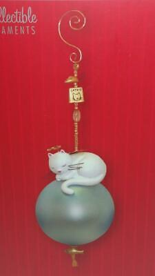 "Angel Cat Ornament - Gold Plated Fish,Mouse,Catnip Charms, 6-1/4"", Ingrid Design"