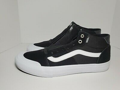 VANS MEN'S STYLE 112 Mid Pro Shoes BlackWhite. Sizes 7 8