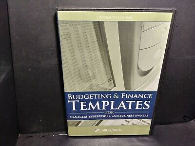Budgeting & Finance Templates-Managers,Supervisors,Business Owners CD ROM B322