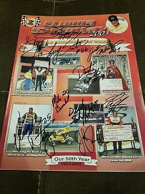 World of Outlaws SPRINT CAR DIRT Track PROGRAM 2003 ELDORA SPEEDWAY AUTOGRAPHED