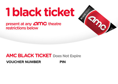 AMC Black Movie Ticket Instant Delivery by Email in 24 hours