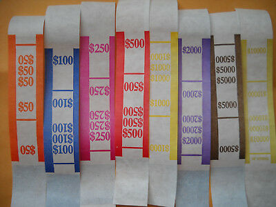 25 USA currency straps $1 $5 $10 $20 $50 $100 any mix Self Sealing money bands
