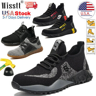 Mens Work Boots Safety Shoes Steel Toe Sneakers Indestructible Lightweight Sport