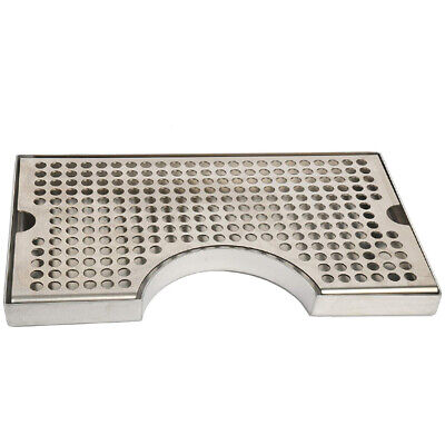 12 inch Surface Mount Kegerator Beer Drip Tray Stainless Steel Tower Cut Ou G8S3