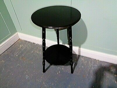 ANTIQUE VICTORIAN JAS SCHOOLBRED of LONDON AESTHETIC MOVEMENT TABLE EBONISED TAB