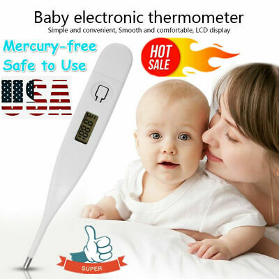 Medical Oral Digital LCD Thermometer Baby Adult Body Safe Ear Temperature Lot US