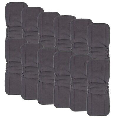 Charcoal Bamboo Inserts with Gussets,Cloth Diaper Liner,5-Layer Inserts,Reu R8V6