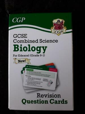 9-1 GCSE Combined Science: Biology Edexcel Revision Question Cards - CGP - NEW