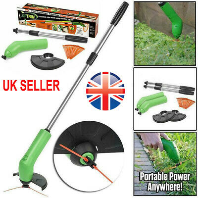 Electric Cordless Grass Trimmer Garden Lawn Heavy Duty Weed Strimmer Cutter Tool